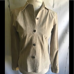 Chico's Suede Button Down